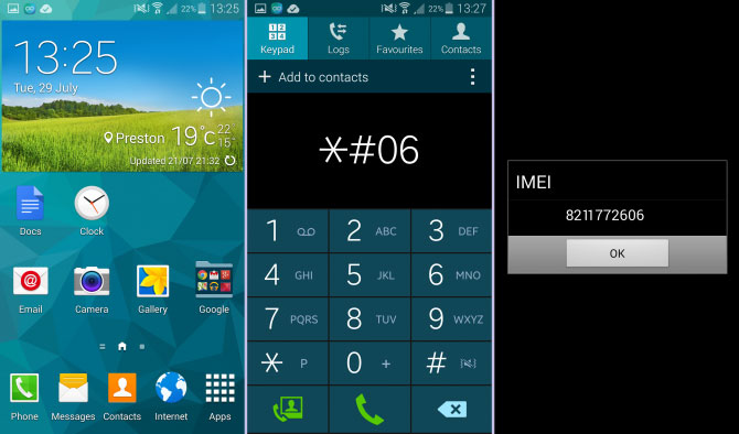 Check IMEI Number on Android
