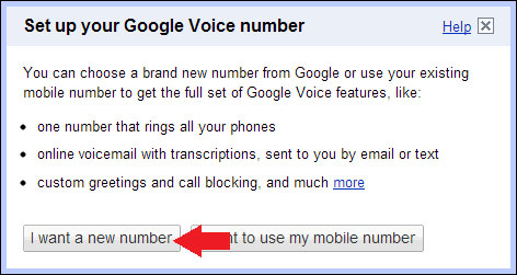 New Google Voice Number