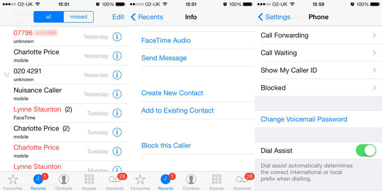how to block caller id on iphone call blocker iphone ios 7 19853