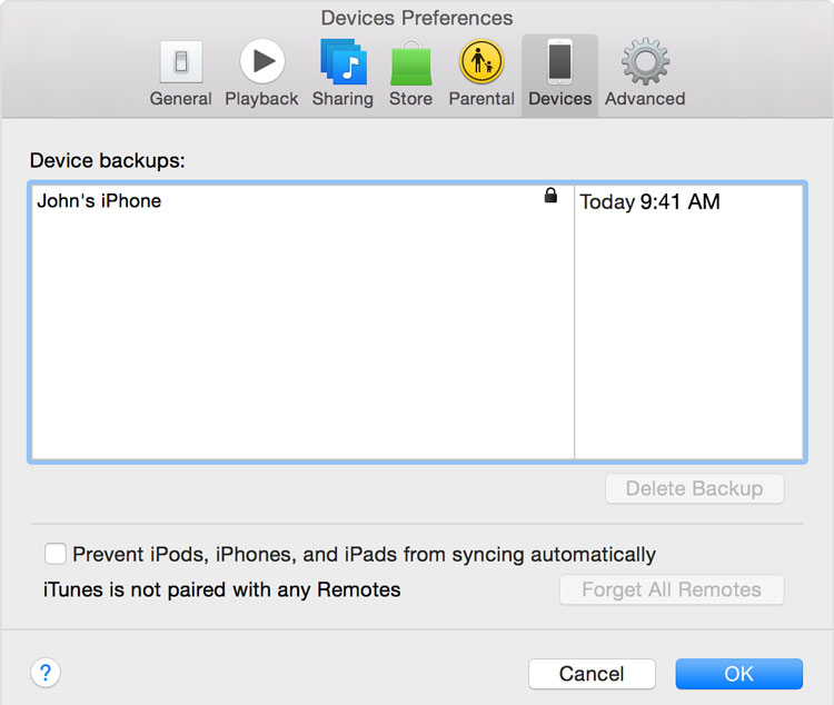 Transfer Data to New iPhone with iTunes