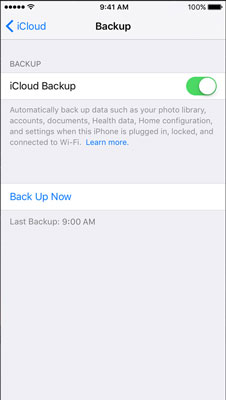 Transfer Data to New iPhone with iCloud