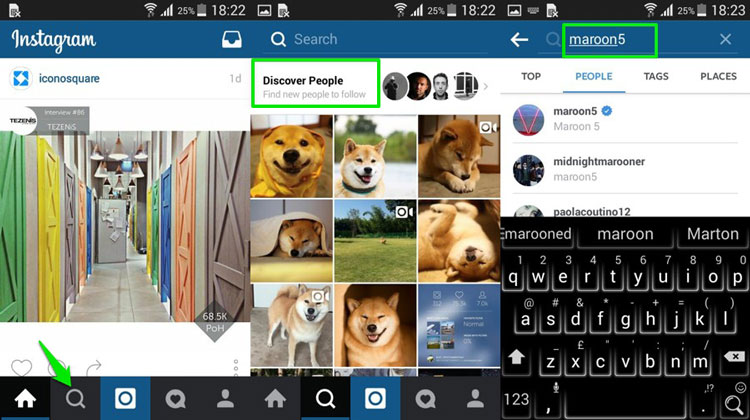 Manually Search People on Instagram