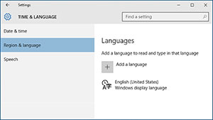 Windows 10 Change Display Language