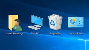 Restore Desktop Icons