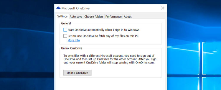 Disable OneDrive in Windows 10 Home