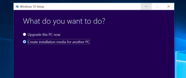 Windows 10 Create Installation Media