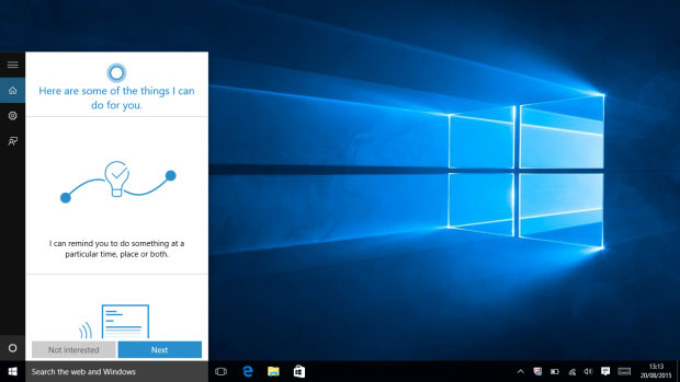 Cortana Setup in Windows 10