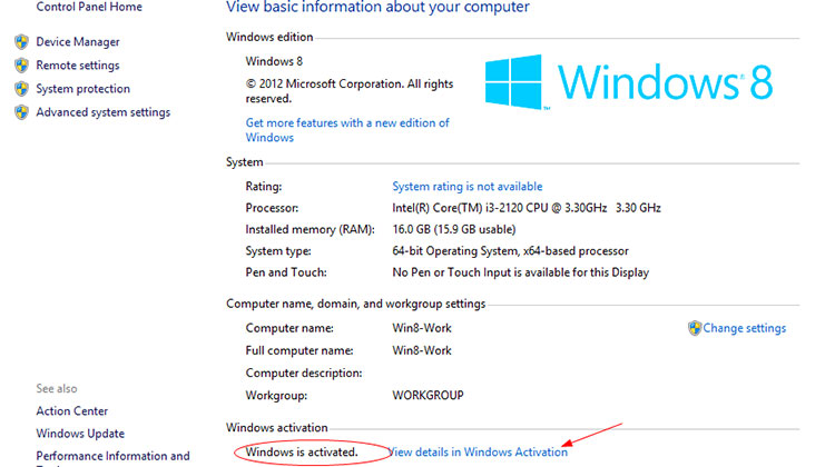 Windows 8 Activation for Upgrade to Windows 10