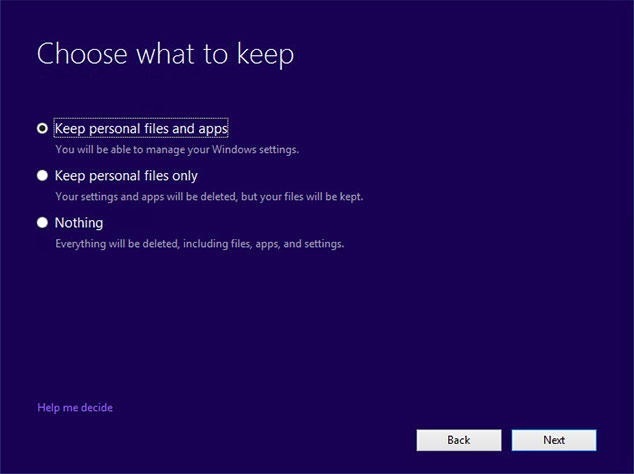 Windows 10 Upgrade without losing Data
