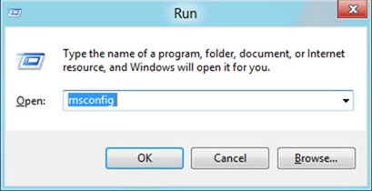 Windows 8 msconfig